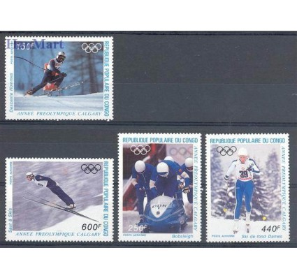 Znaczek Kongo 1986 Mi 1056-1059 Czyste **