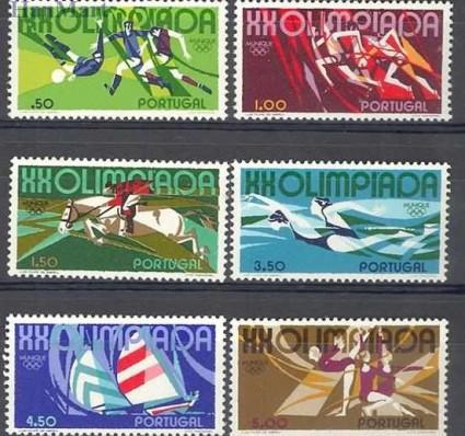 Znaczek Portugalia 1972 Mi 1172-1177 Czyste **
