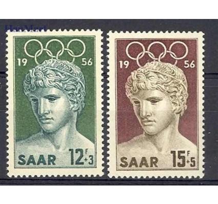 Znaczek Saara 1956 Mi 371-372 Czyste **