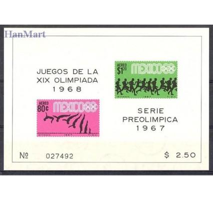 Znaczek Meksyk 1967 Mi bl 9 Czyste **