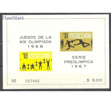 Znaczek Meksyk 1967 Mi bl 10 Czyste **