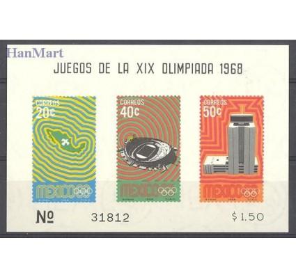 Znaczek Meksyk 1968 Mi bl 15 Czyste **