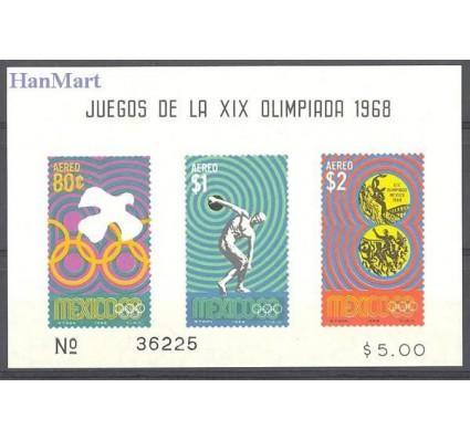 Znaczek Meksyk 1968 Mi bl 17 Czyste **