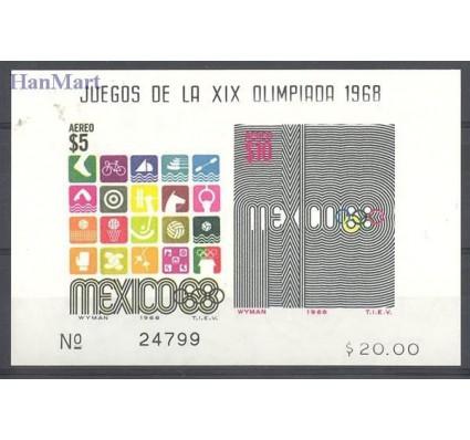 Znaczek Meksyk 1968 Mi bl 18 Czyste **