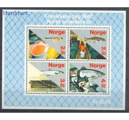 Znaczek Norwegia 1987 Mi bl 8 Czyste **