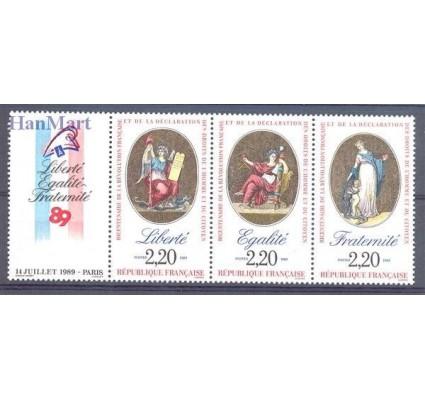 Znaczek Francja 1989 Mi zf 2708,2715,2720 Czyste **