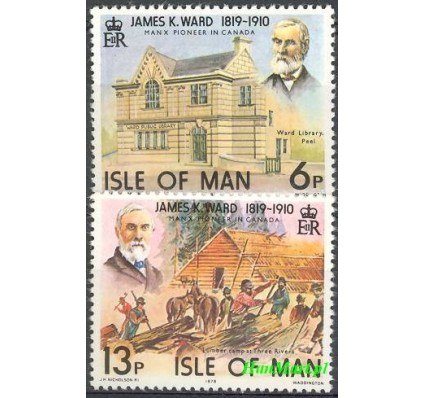 Znaczek Wyspa Man 1978 Mi 129-130 Czyste **