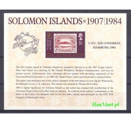 Znaczek Wyspy Salomona 1984 Mi bl 14 Czyste **