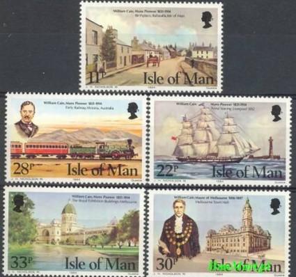 Znaczek Wyspa Man 1984 Mi 263-267 Czyste **