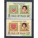 Wyspa Man 1984 Mi 270-271 Czyste **