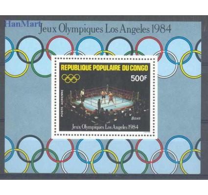 Znaczek Kongo 1984 Mi bl 35 Czyste **