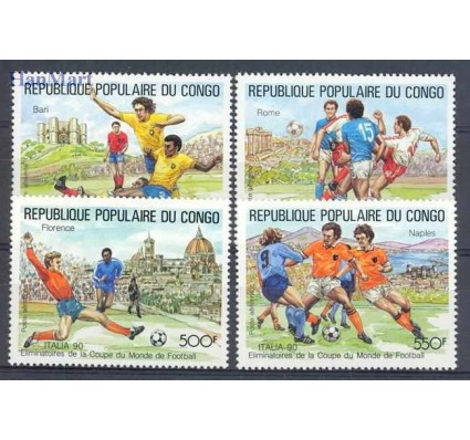Znaczek Kongo 1989 Mi 1144-1147 Czyste **