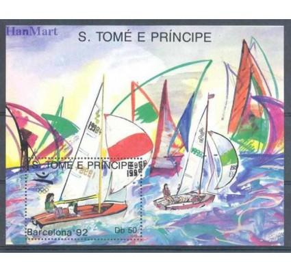 Znaczek Wyspy Św. Tomasza i Książęca 1989 Mi bl 195 Czyste **