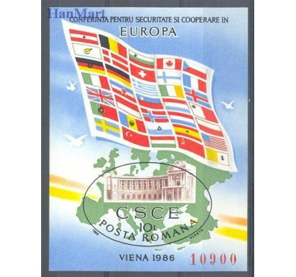 Znaczek Rumunia 1986 Mi bl 230 Czyste **