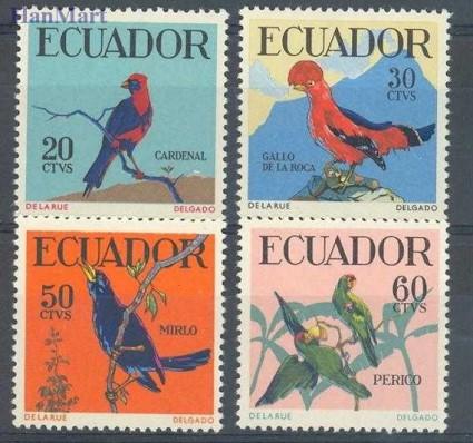 Znaczek Ekwador 1958 Mi 981-984 Czyste **