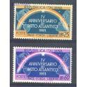 Włochy 1953 Mi 896-897 Czyste **