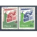 Włochy 1970 Mi 1325-1326 Czyste **