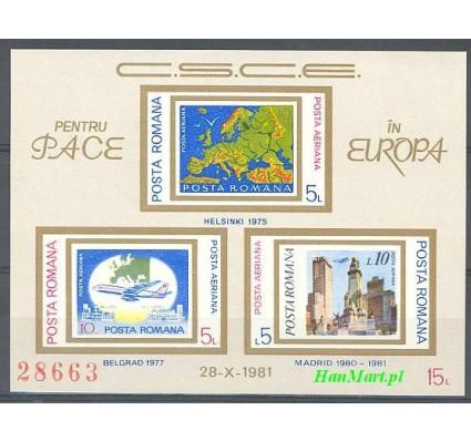 Znaczek Rumunia 1981 Mi bl 183 Czyste **