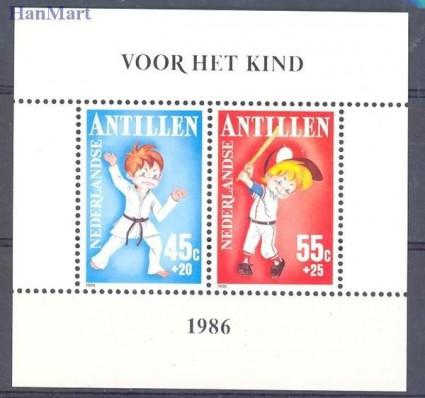 Znaczek Antyle Holenderskie 1986 Mi bl 30 Czyste **