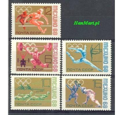 Znaczek ZSRR 1968 Mi 3517-3521 Czyste **