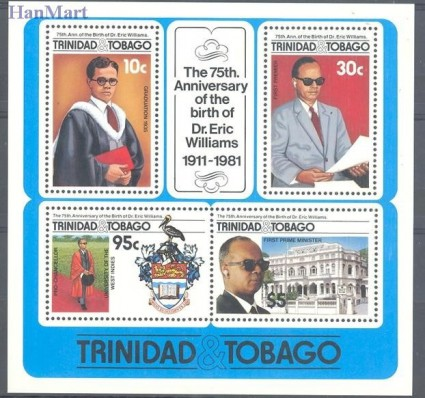Znaczek Trynidad i Tobago 1986 Mi bl 40 Czyste **