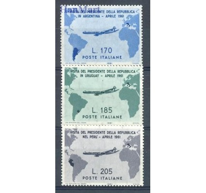 Znaczek Włochy 1961 Mi 1100-1102 Czyste **