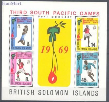 Znaczek Wyspy Salomona 1969 Mi bl 1 Czyste **