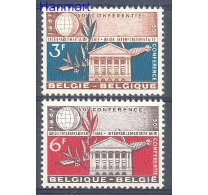 Belgia 1961 Mi 1251-1252 Czyste **