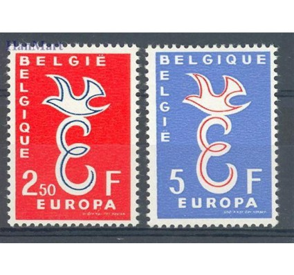 Znaczek Belgia 1958 Mi 1117-1118 Czyste **
