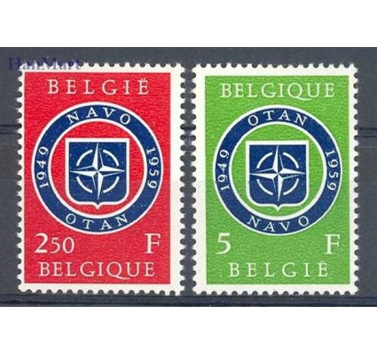 Znaczek Belgia 1959 Mi 1147-1148 Czyste **
