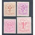 Belgia 1959 Mi 1174-1177 Czyste **