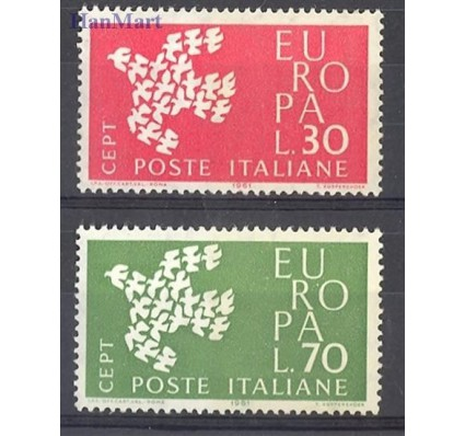 Znaczek Włochy 1961 Mi 1113-1114 Czyste **