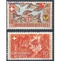 Szwajcaria 1941 Mi 396-397 Czyste **