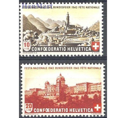 Znaczek Szwajcaria 1943 Mi 420-421 Czyste **