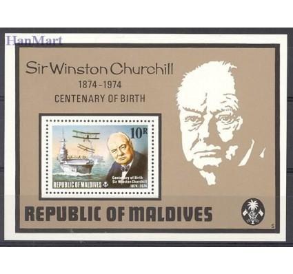 Znaczek Malediwy 1974 Mi bl 28 Czyste **