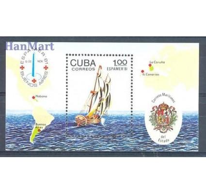 Znaczek Kuba 1981 Mi bl 70 Czyste **