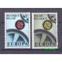Belgia 1967 Mi 1472-1473 Czyste **