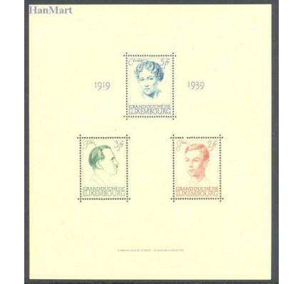 Znaczek Luksemburg 1939 Mi bl 3 Czyste **