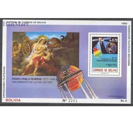 Znaczek Boliwia 1992 Mi bl 197 Czyste **