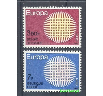 Belgia 1970 Mi 1587-1588 Czyste **