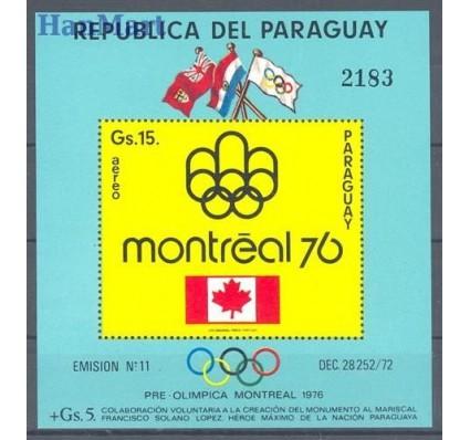 Znaczek Paragwaj 1975 Mi bl 240 Czyste **