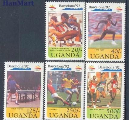 Znaczek Uganda 1991 Mi 883-887 Czyste **