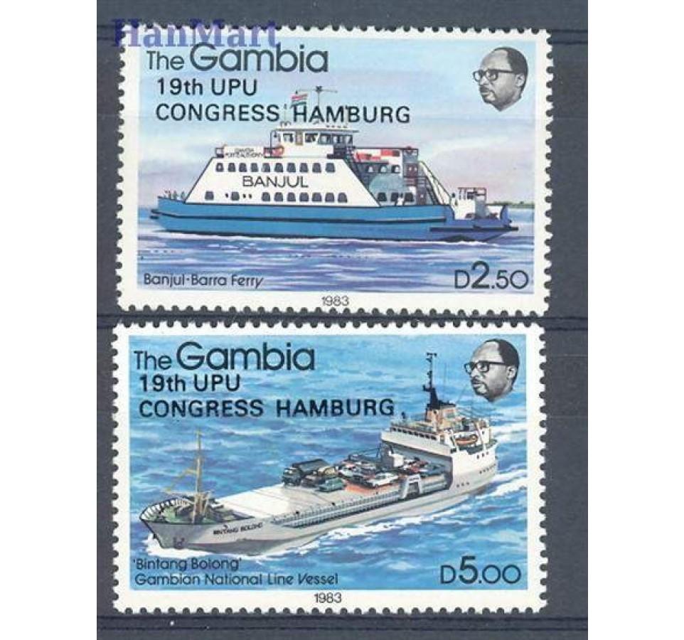 Gambia 1984 Mi 529-530 Czyste **