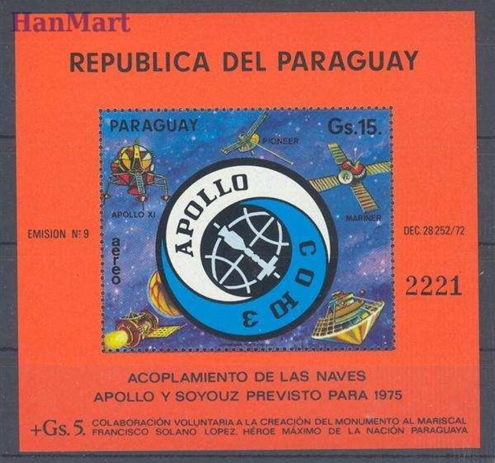 Paragwaj 1974 Mi bl 236 Czyste **
