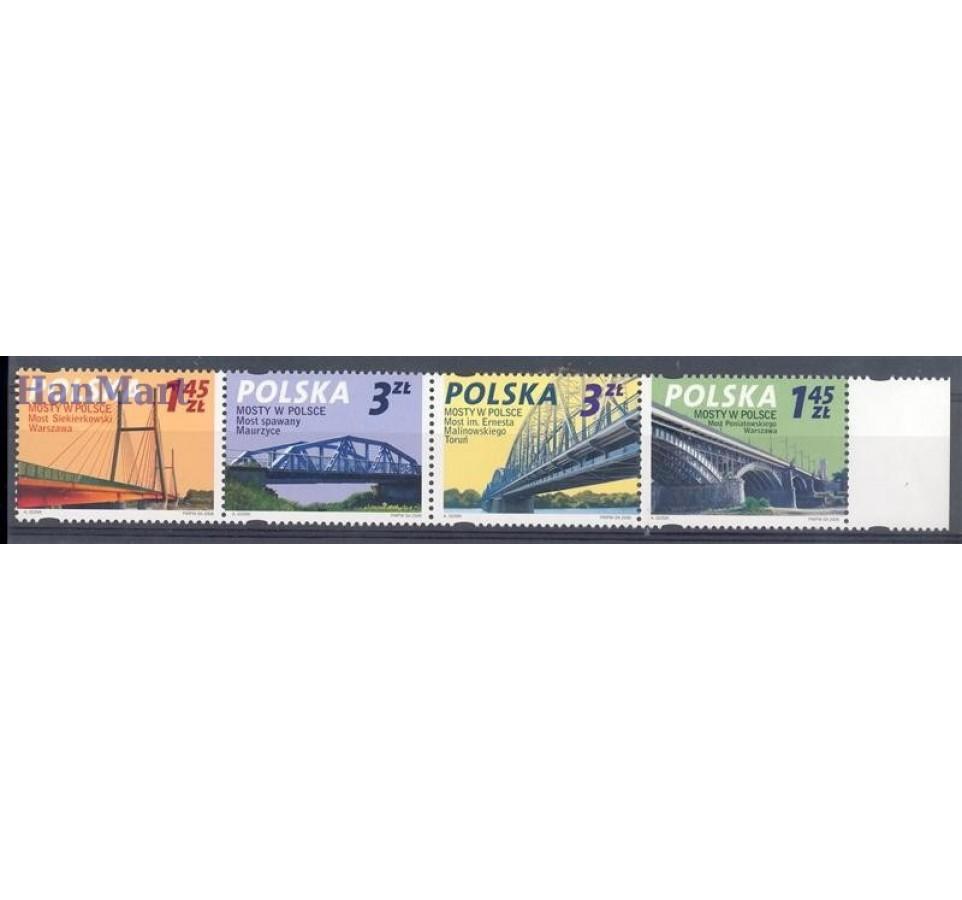 Polska 2008 Mi 4373-4376 Fi 4223-4226 Czyste **