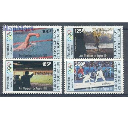 Znaczek Wybrzeże Kości Słoniowej 1984 Mi 812-815 Czyste **