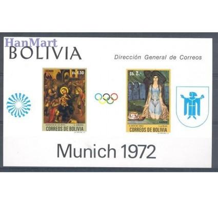 Znaczek Boliwia 1972 Mi bl 35 Czyste **