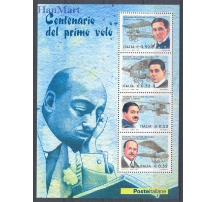 Znaczek Włochy 2003 Mi bl 32 Czyste **