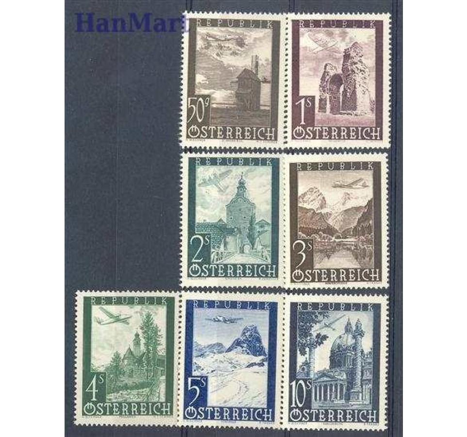 Austria 1947 Mi 822-828 Czyste **