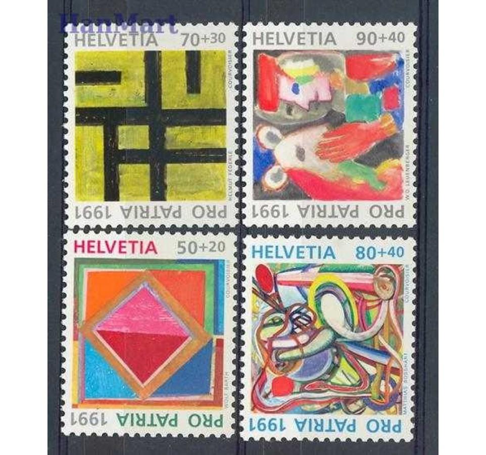 Szwajcaria 1991 Mi 1446-1449 Czyste **